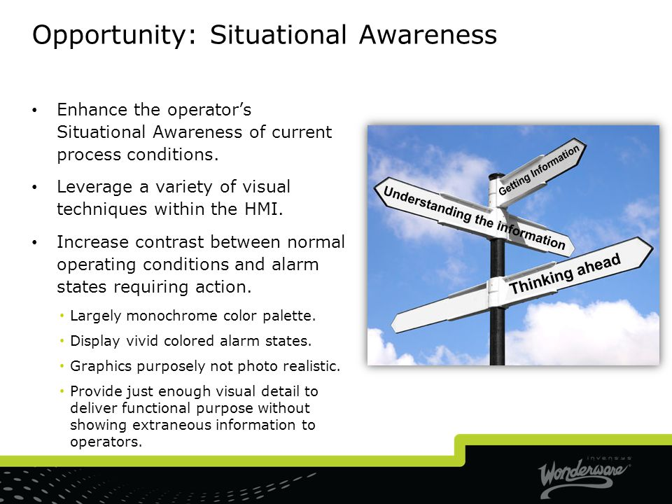 Opportunity: Situational Awareness