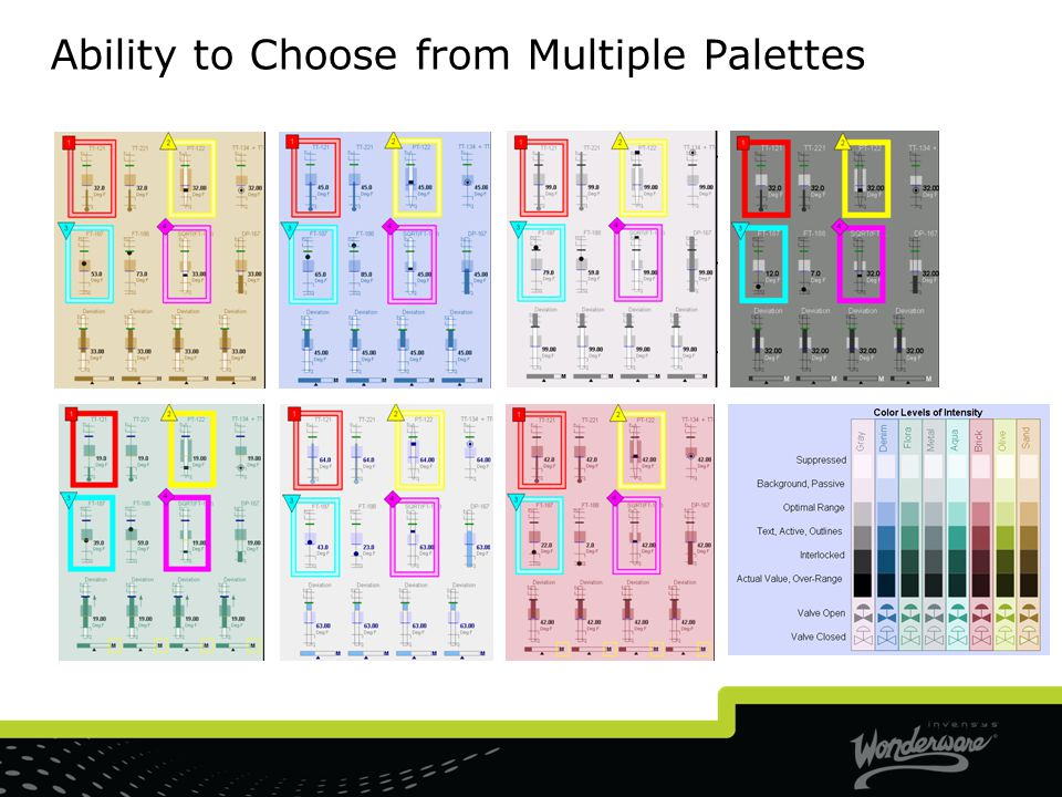 Ability to Choose from Multiple Palettes