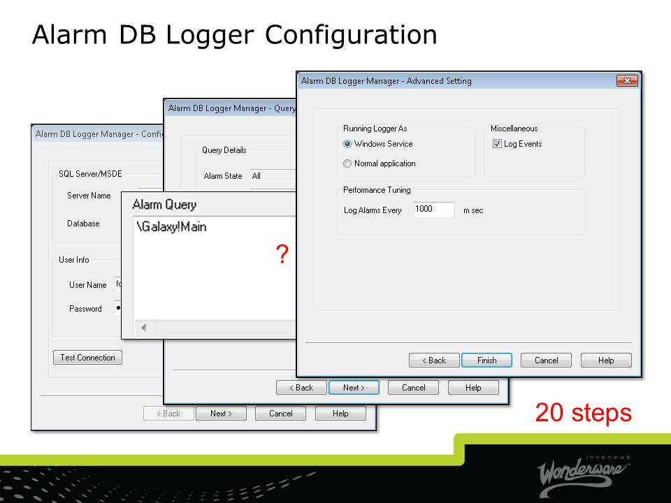 Alarm DB Logger Configuration