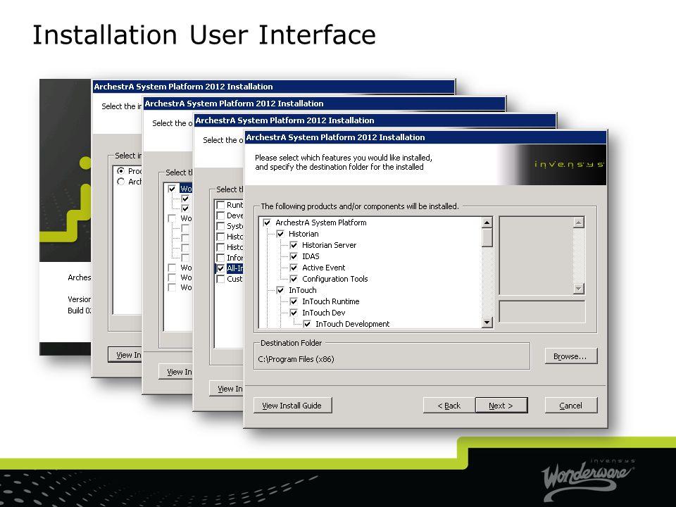 Installation User Interface