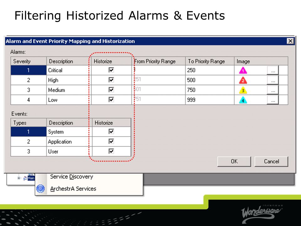 Filtering Historized Alarms & Events