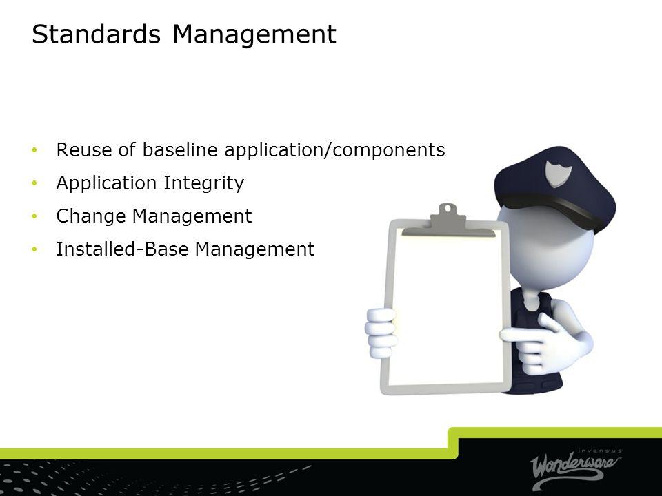 Standards Management Reuse of baseline application/components