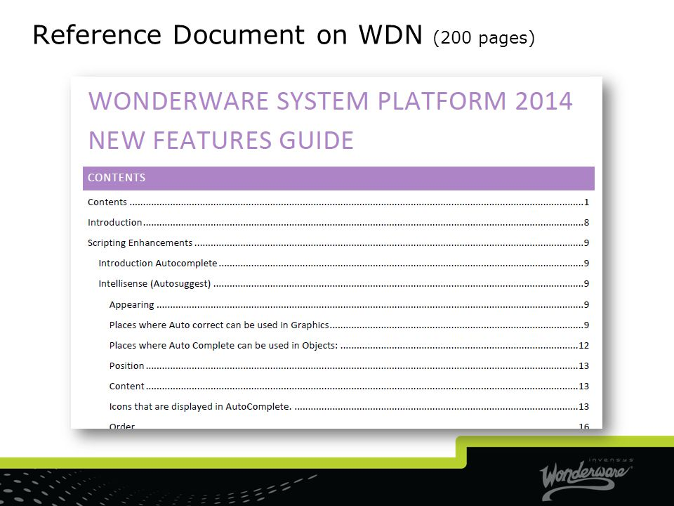 Reference Document on WDN (200 pages)