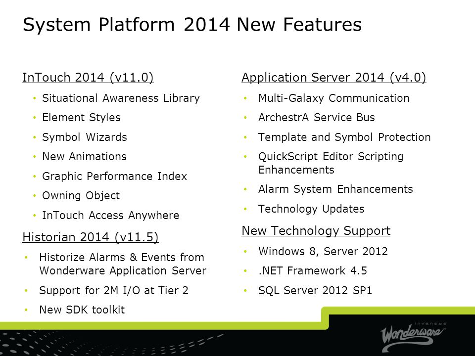 System Platform 2014 New Features
