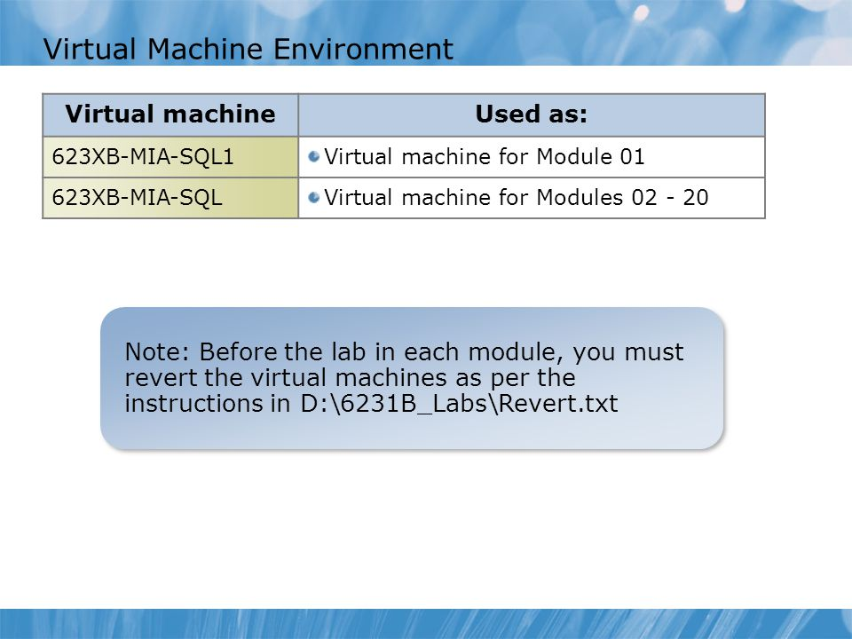 Virtual Machine Environment