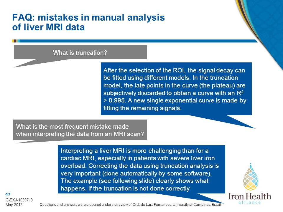FAQ: mistakes in manual analysis of liver MRI data