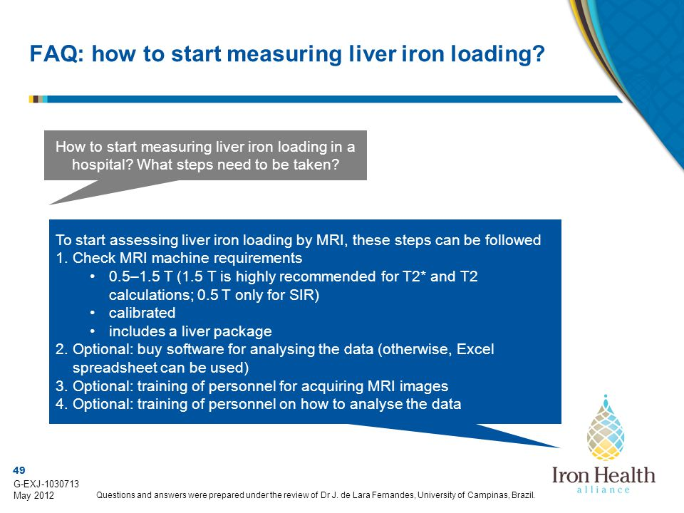 FAQ: how to start measuring liver iron loading