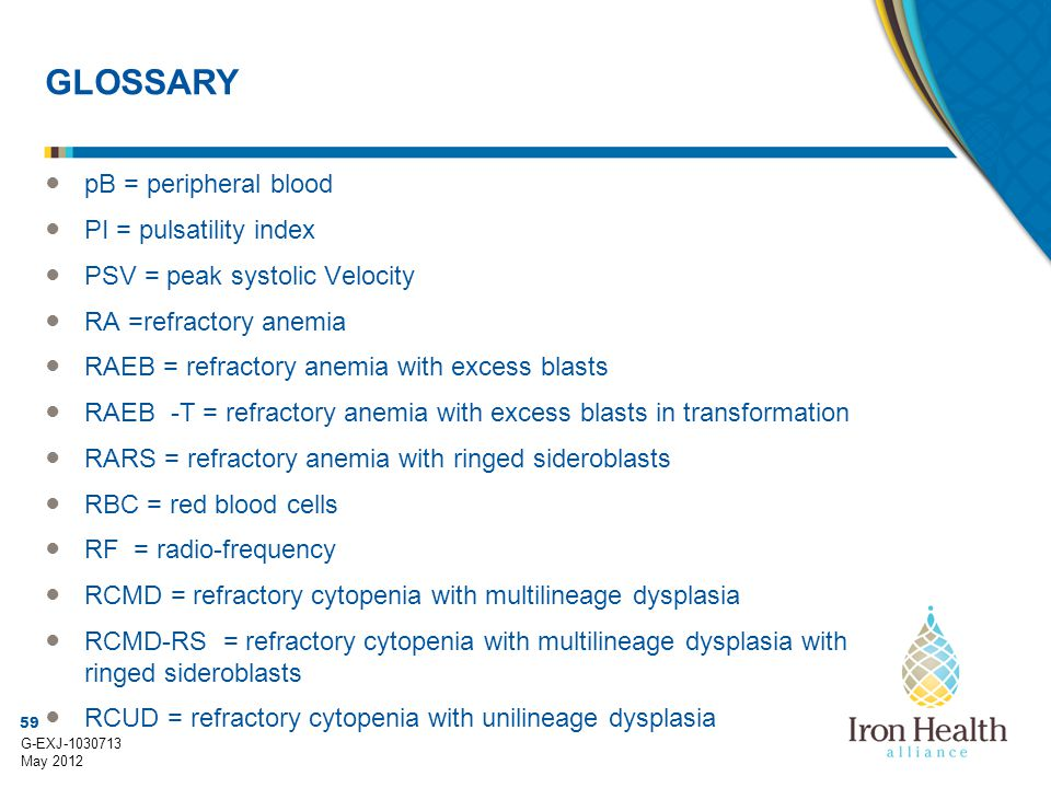 GLOSSARY pB = peripheral blood PI = pulsatility index