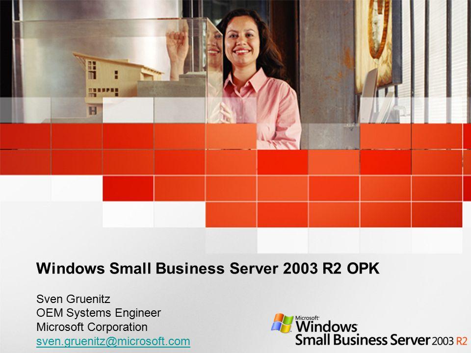 Windows Small Business Server 2003 R2 OPK