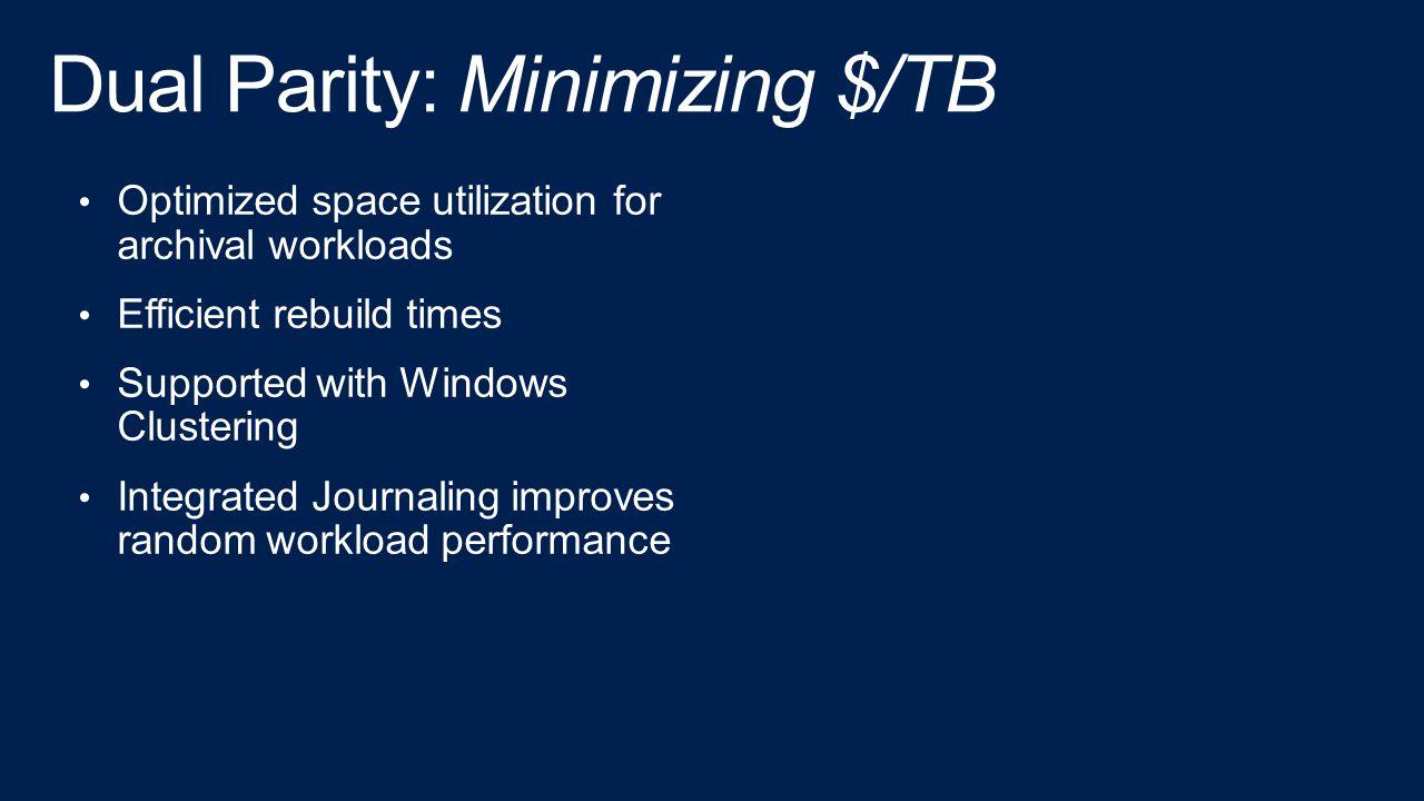 Dual Parity: Minimizing $/TB