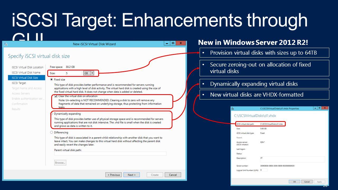 iSCSI Target: Enhancements through GUI