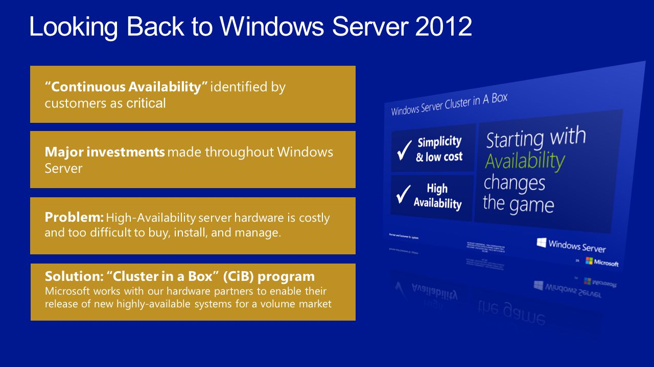 Looking Back to Windows Server 2012