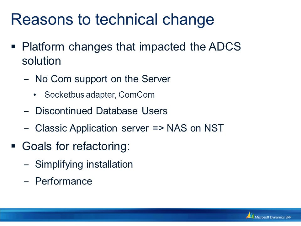 Reasons to technical change