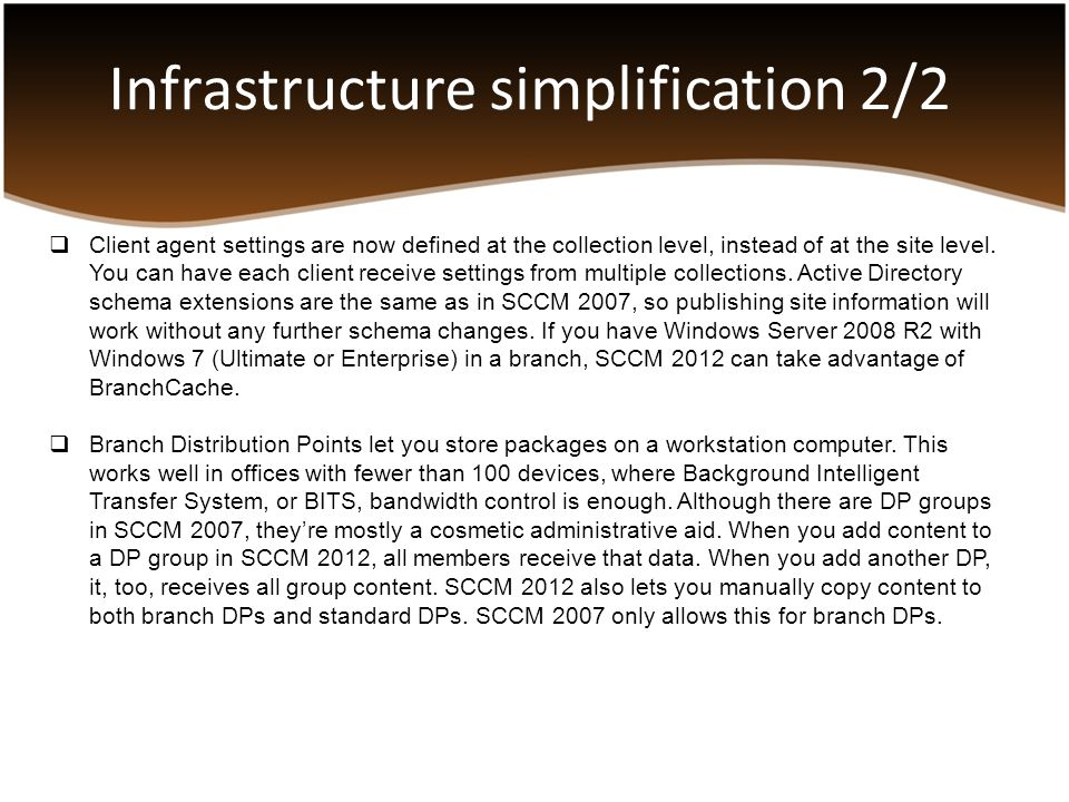Infrastructure simplification 2/2