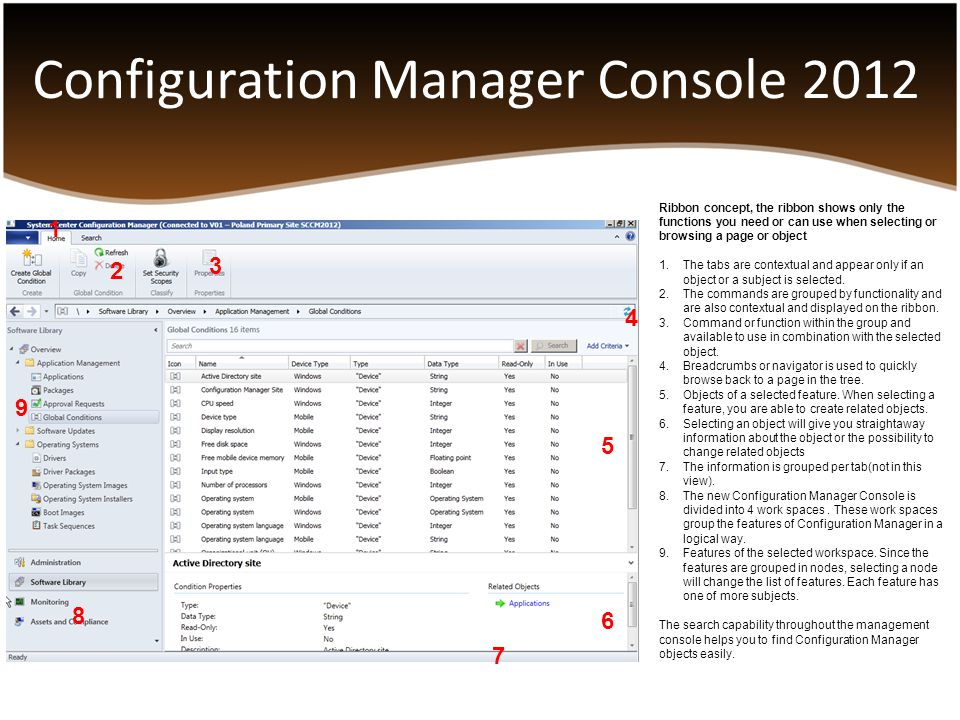Configuration Manager Console 2012