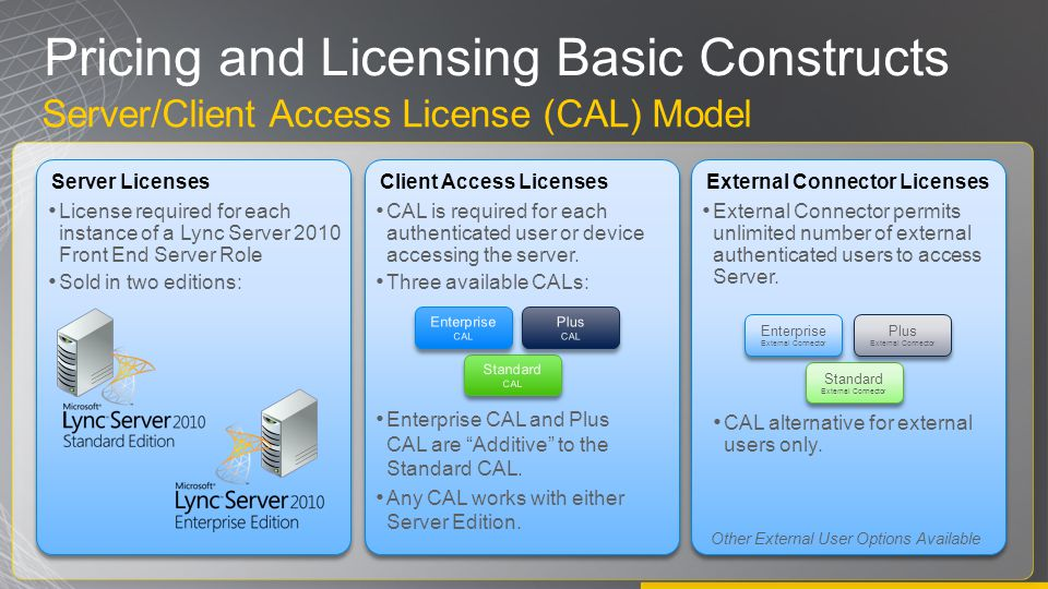 Pricing and Licensing Basic Constructs