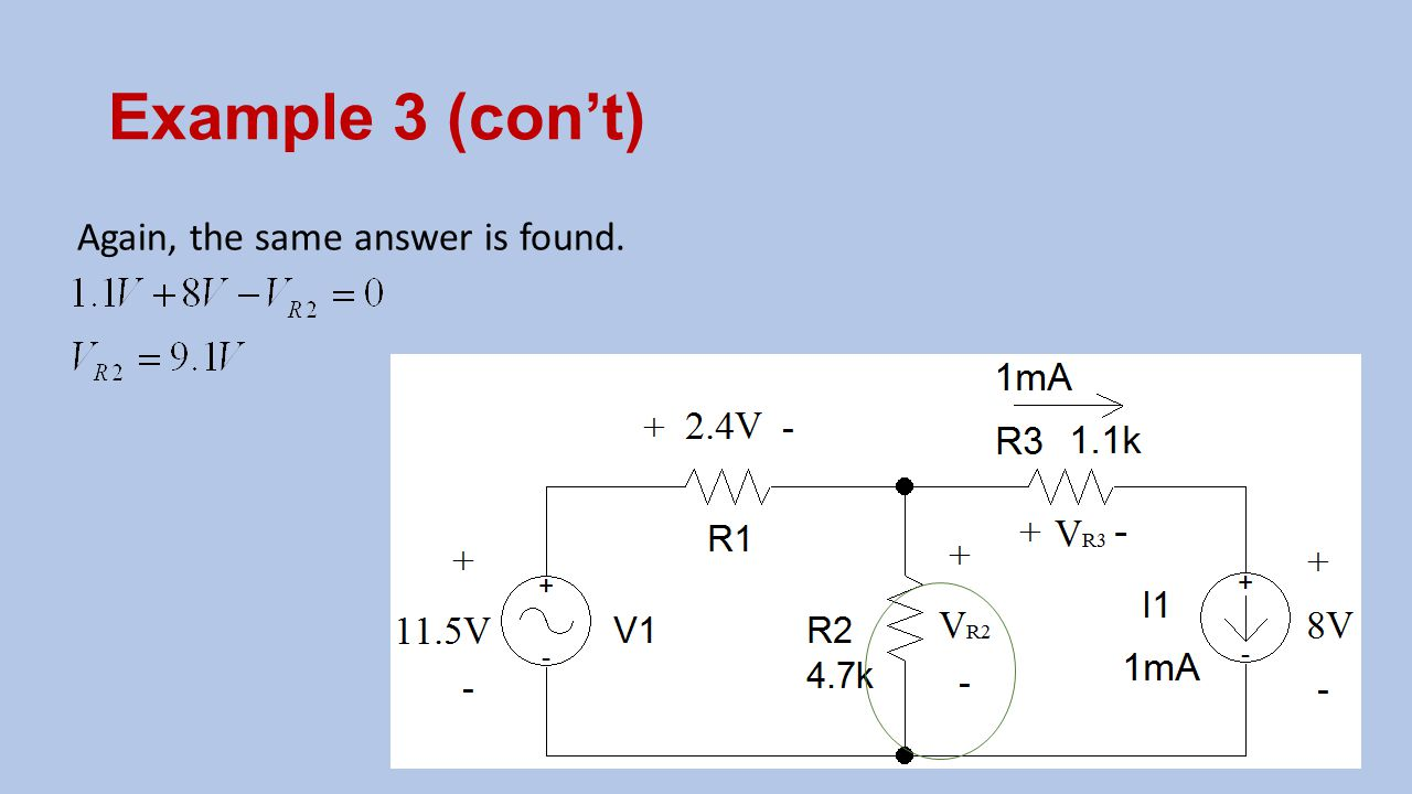 Example 3 (con't) Again, the same answer is found.