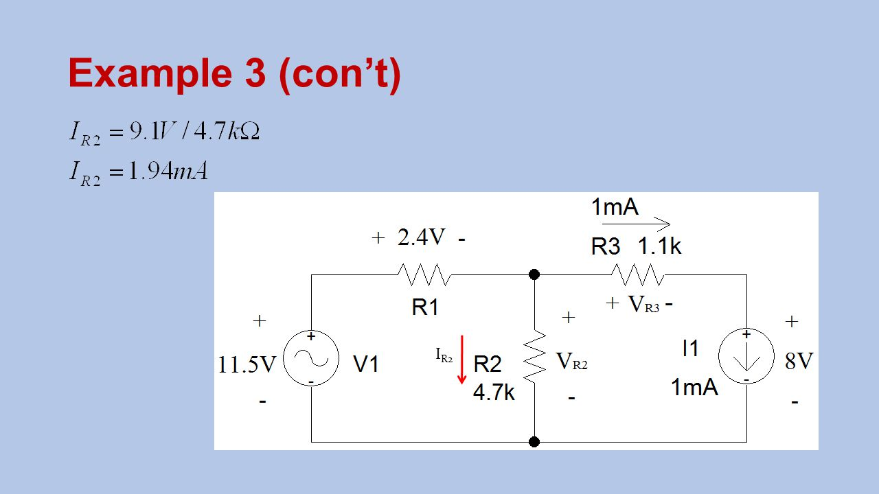 Example 3 (con't) IR2