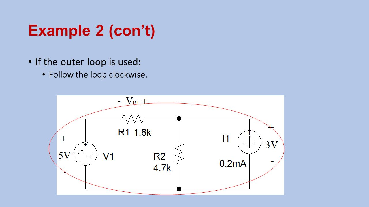 Example 2 (con't) If the outer loop is used: