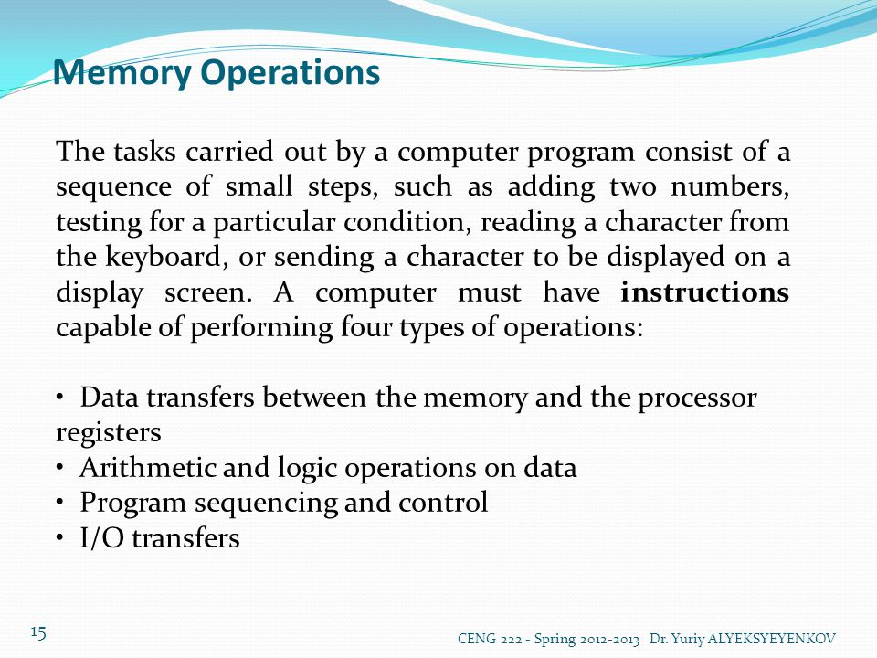 Memory Operations