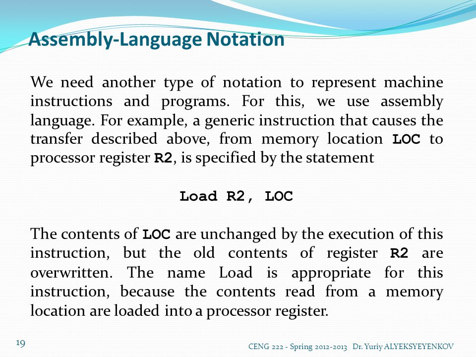 Assembly-Language Notation