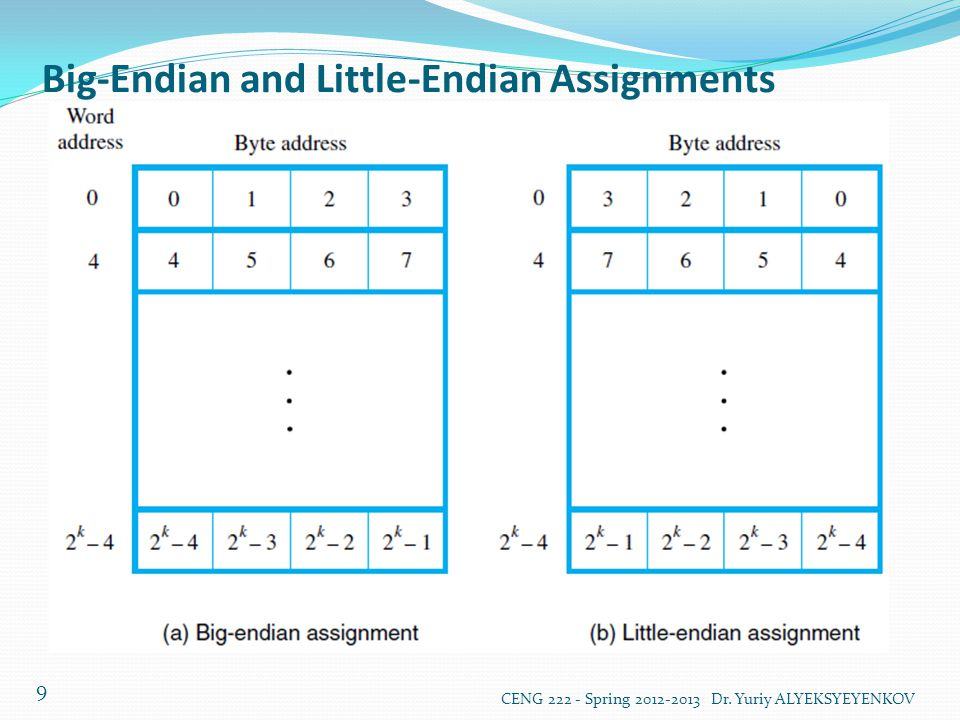 Big-Endian and Little-Endian Assignments