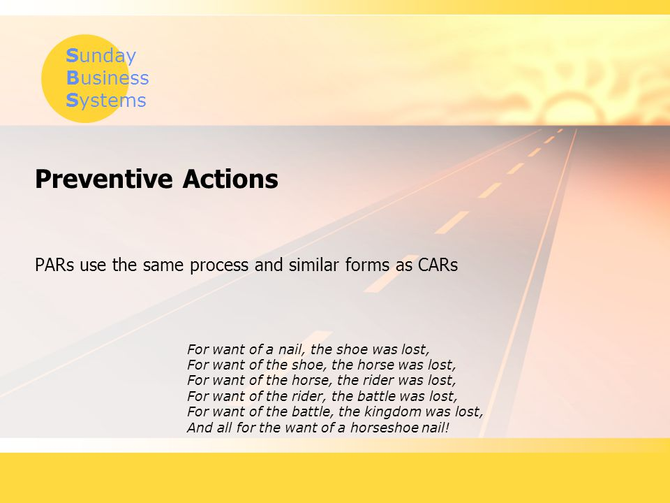 PARs use the same process and similar forms as CARs