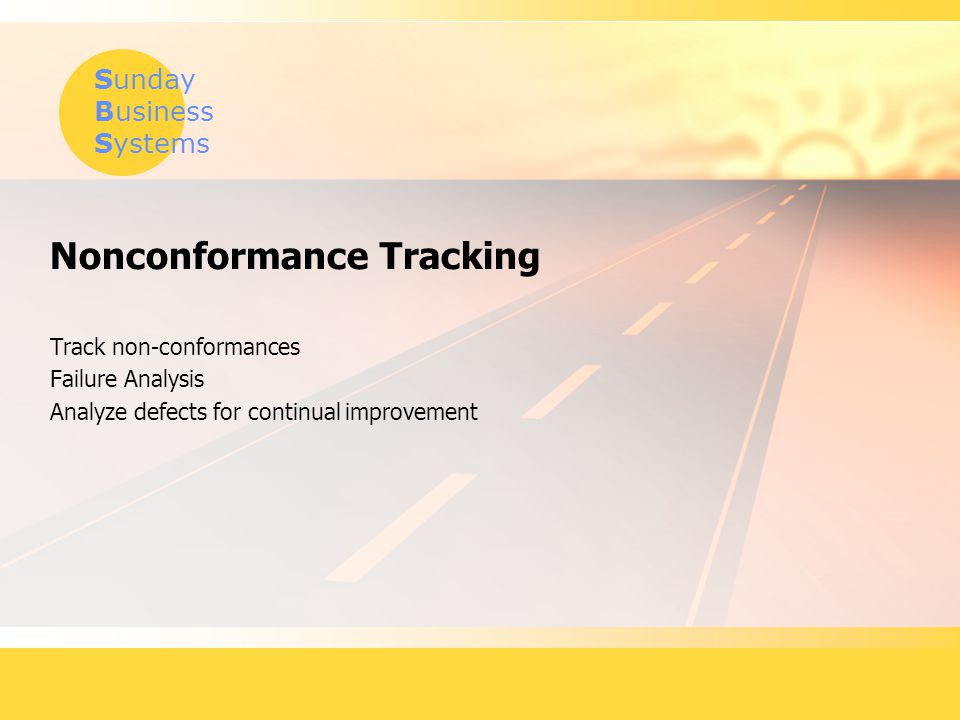 Nonconformance Tracking