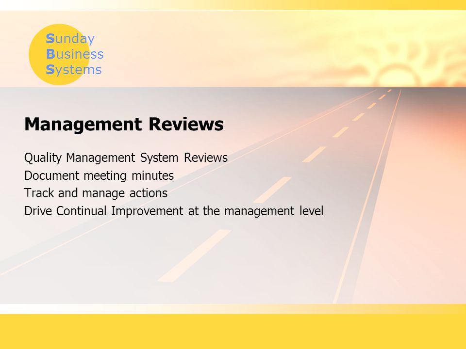 Management Reviews Quality Management System Reviews