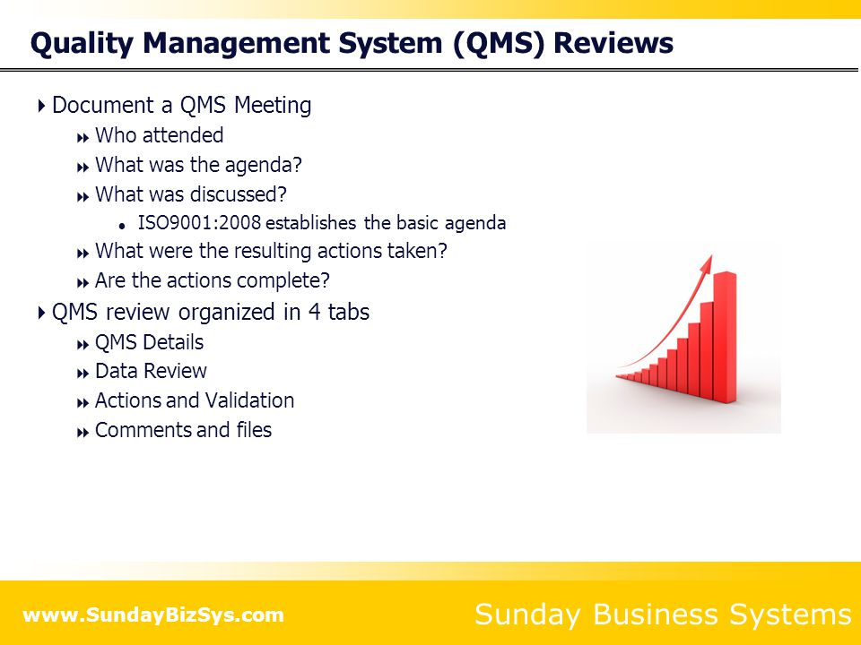 Quality Management System (QMS) Reviews