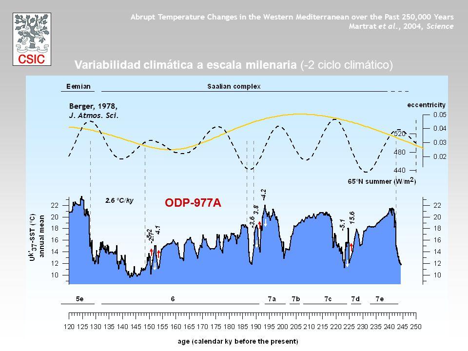 Variabilidad climática a escala milenaria (-2 ciclo climático)