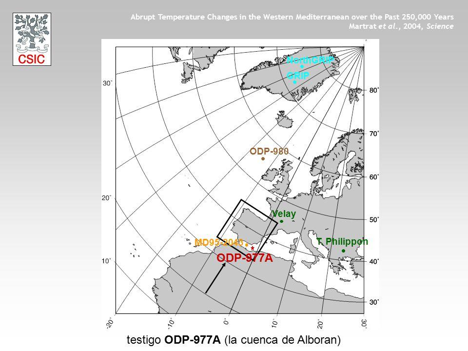 testigo ODP-977A (la cuenca de Alboran)