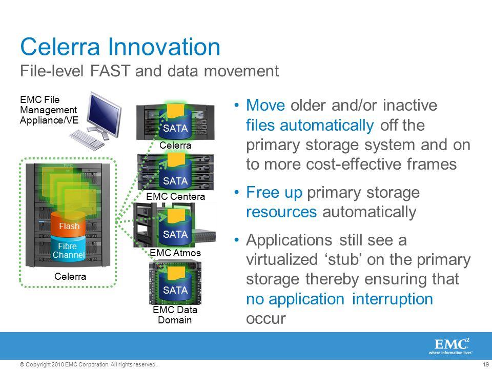 Celerra Innovation File-level FAST and data movement