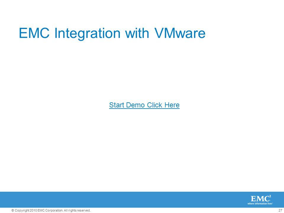 EMC Integration with VMware