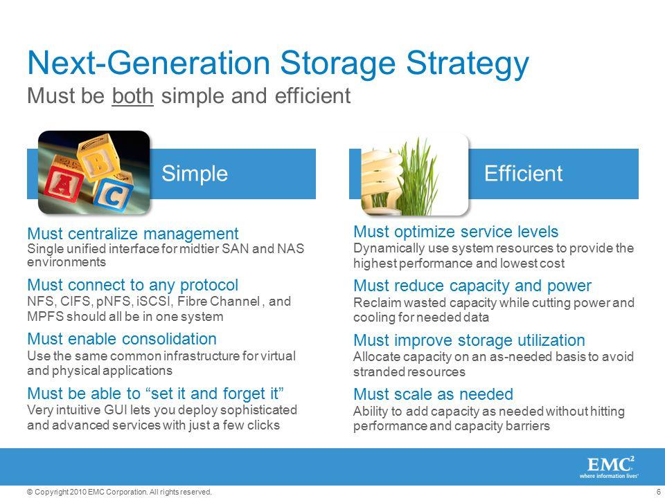 Next-Generation Storage Strategy