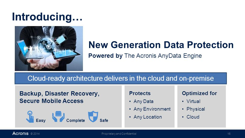 Cloud-ready architecture delivers in the cloud and on-premise