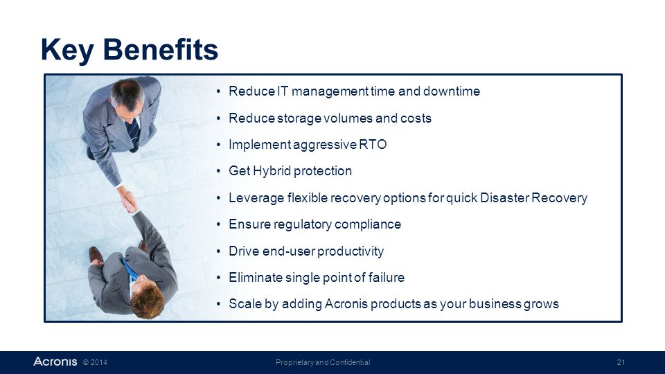 Key Benefits Reduce IT management time and downtime