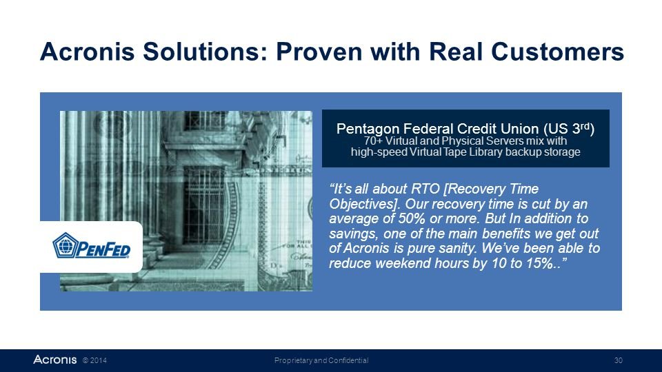 Acronis Solutions: Proven with Real Customers