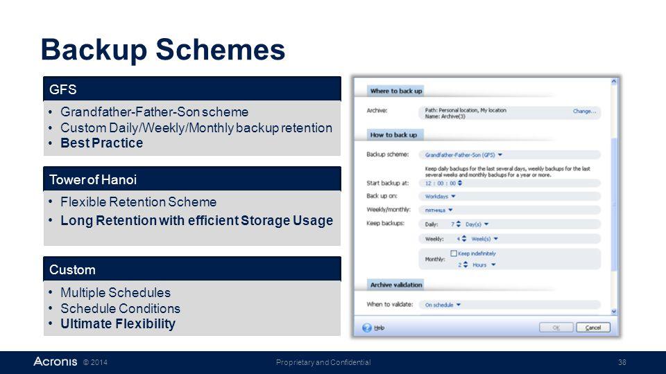 Backup Schemes GFS Grandfather-Father-Son scheme