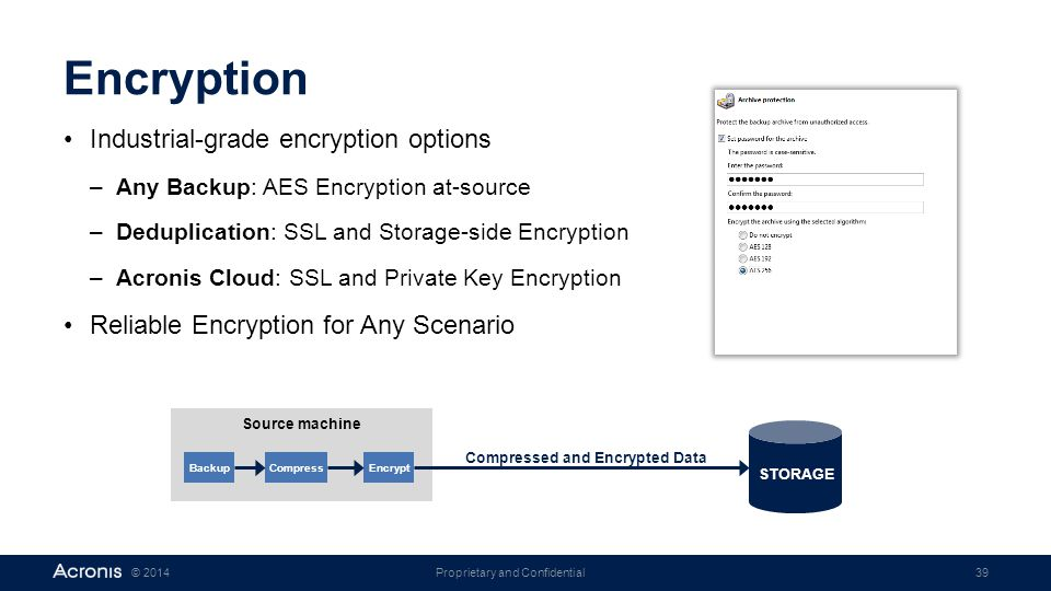 Compressed and Encrypted Data