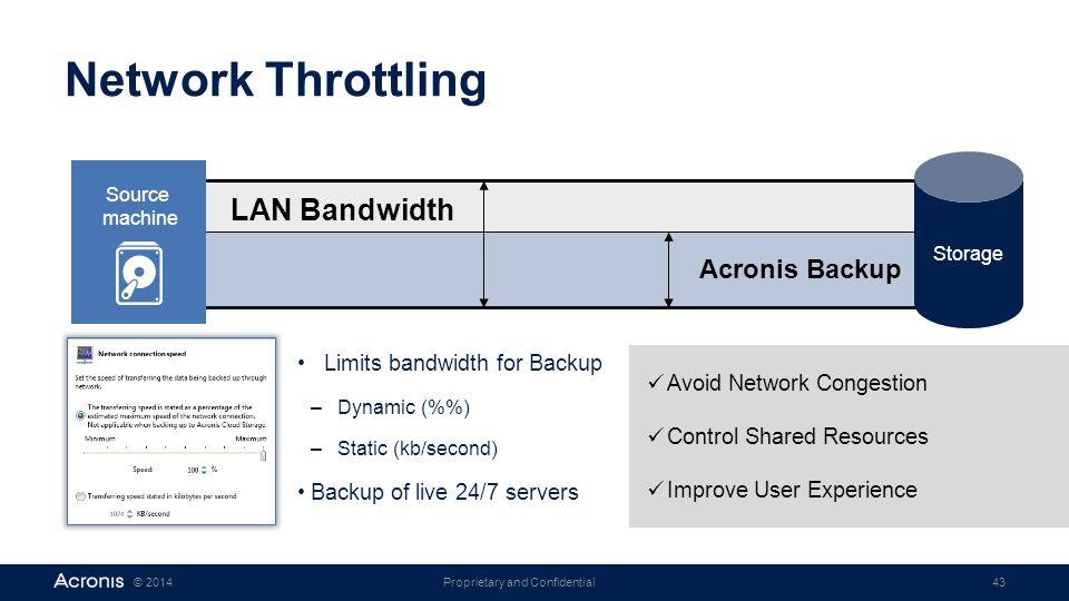 Network Throttling LAN Bandwidth Acronis Backup
