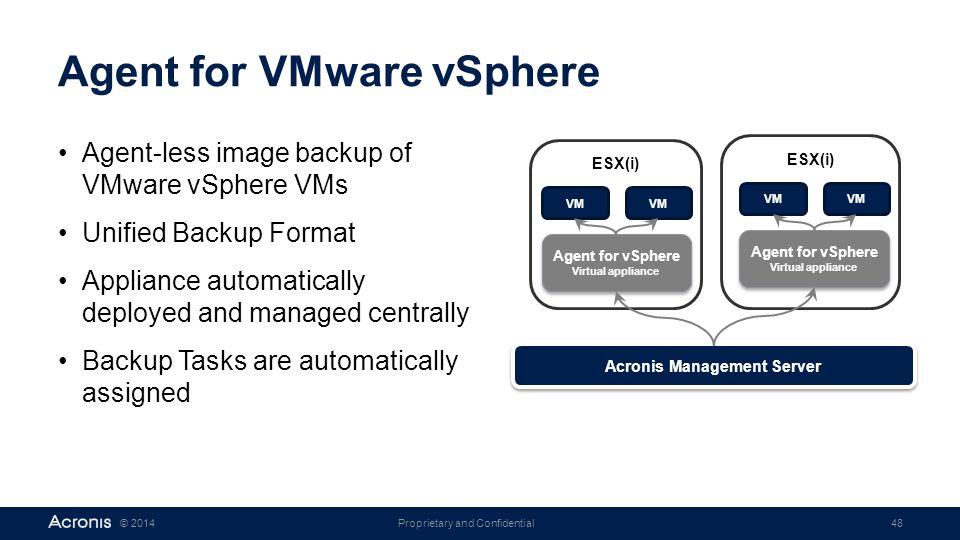 Agent for VMware vSphere
