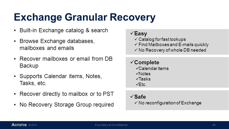 Exchange Granular Recovery