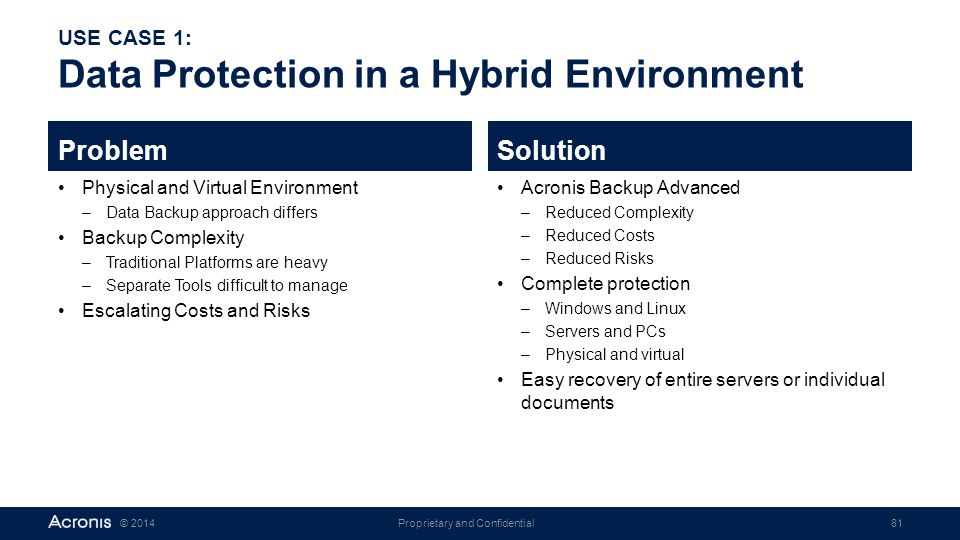 USE CASE 1: Data Protection in a Hybrid Environment