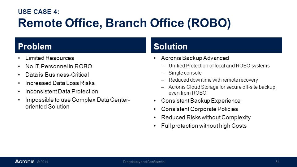 USE CASE 4: Remote Office, Branch Office (ROBO)