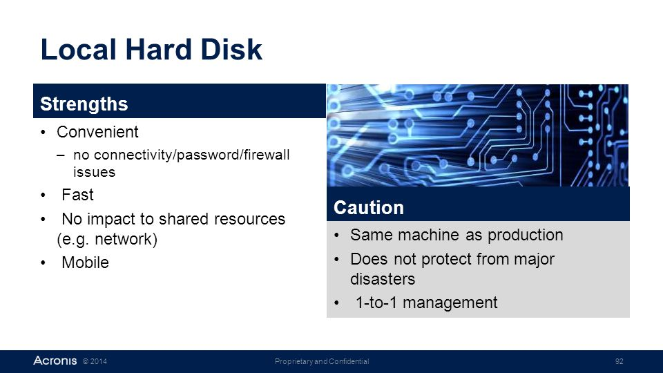 Local Hard Disk Strengths Caution Convenient Fast