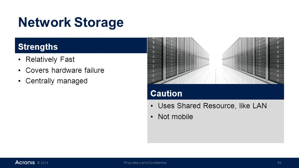 Network Storage Strengths Caution Relatively Fast