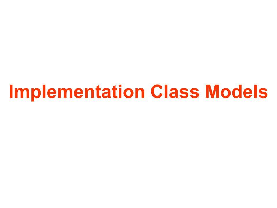Implementation Class Models