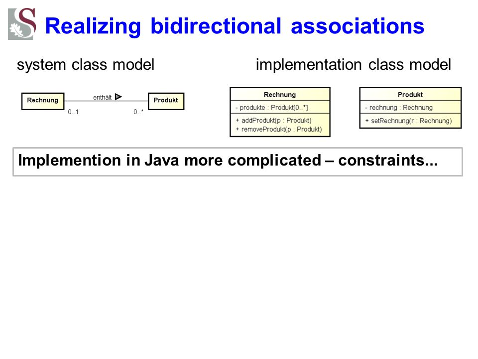 Realizing bidirectional associations