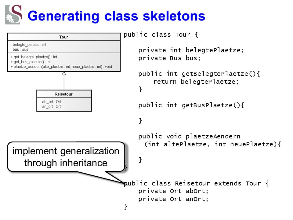 Generating class skeletons